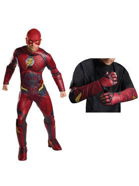 Justice League Movie - Flash Men's Deluxe Costume Kit
