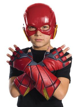 Justice League Movie - Flash Gloves Child