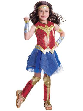 Justice League Movie - Deluxe Wonder Woman Child Costume