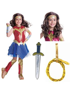 Justice League Movie - Deluxe Wonder Woman Child Costume Kit