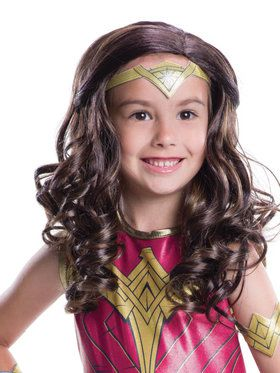 Justice League: Wonder Woman child wig