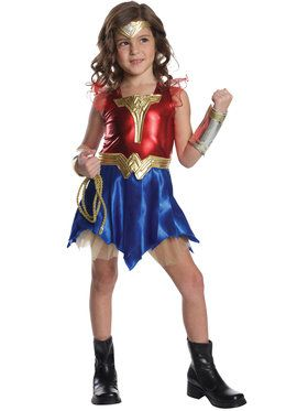 Justice League - Deluxe Wonder Woman - Dress Up Costume for Children