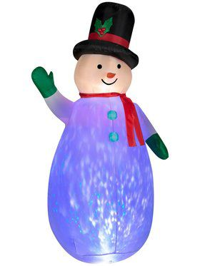 7.5 Ft Kaleidoscope Projection Airblown Snowman