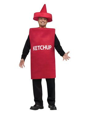 Ketchup Squeeze Bottle Adult Costume One-Size
