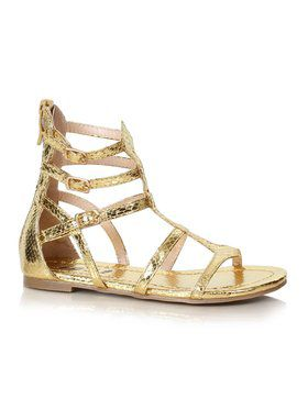 Kids Athena Gold Gladiator Sandals