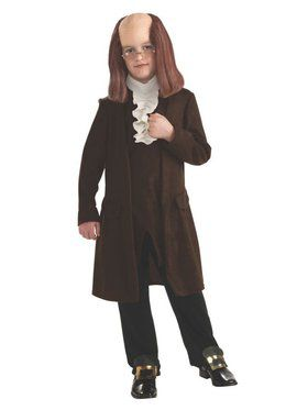 Kids Benjamin Franklin Child Costume