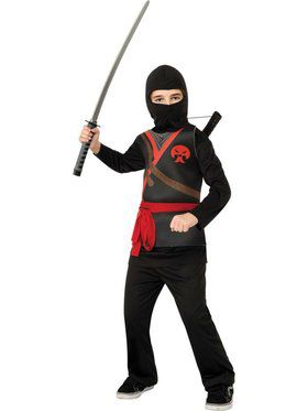 Kids Black Ninja Child Costume