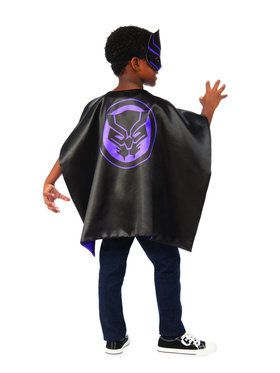 Kids Black Panther Cape Set
