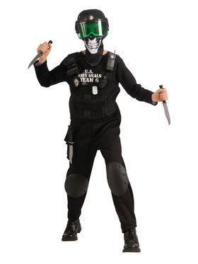 Kids Black Team 6 Costume