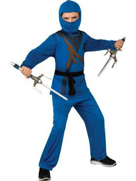 Kids Blue Ninja Child Costume