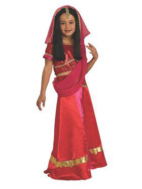 Kids Bollywood Princess Child Costume