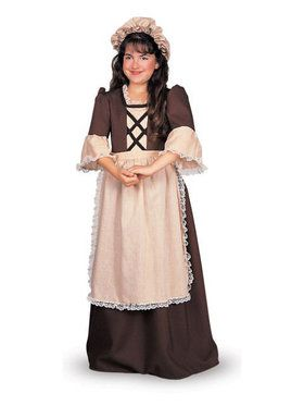 Deluxe Colonial Girl - Kids Costume