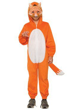 Fox Jumpsuit with 2018 Halloween Masks Costume for Kids