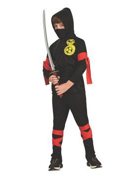 Kids Fuller Cut Black Ninja Child Costume