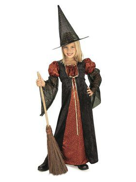 Kids Glitter Witch Child Costume