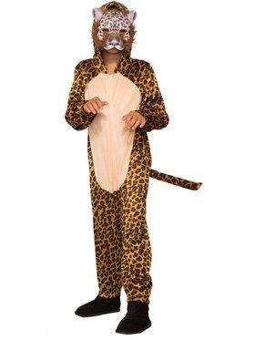 Leopard Jumpsuit with 2018 Halloween Masks Costume for Kids