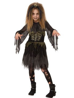 Little Zombie Girl Kid's Costume