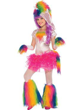 Kids Rainbow Unicorn Child Costume