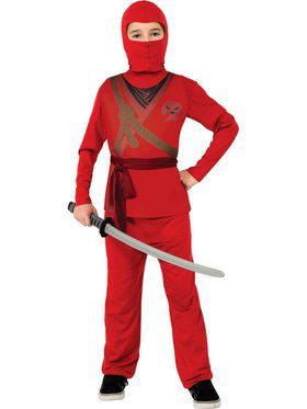 Kids Red Ninja Child Costume