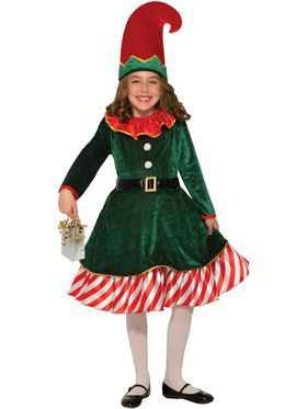 Santa's Little Elf Girls Costume