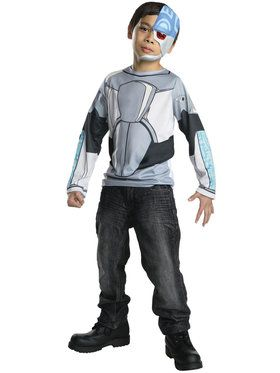 Kids Teen Titans Cyborg Costume Top