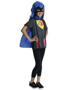 Go Teen Titans Go Raven Costume Top for Girls