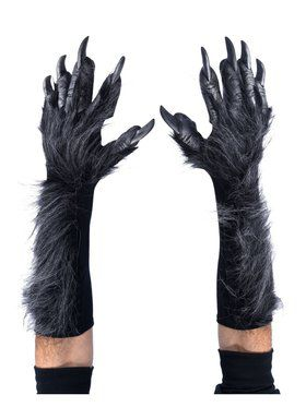 Midnight Menagerie Black Womens Adult Costume Gloves With Claws