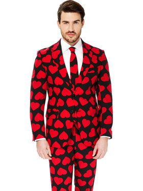 King of Hearts Suit Men's Opposuit