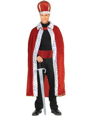 King Robe Crown Adult Costume Kit