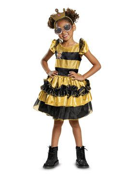 L.O.L Dolls Queen Bee Deluxe Child Costume  sc 1 st  BuyCostumes.com & All Girls Costumes - Girls Halloween Costumes | BuyCostumes.com