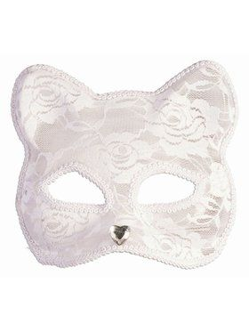 Lace Cat Mask - White