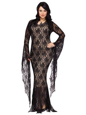 Lace Morticia Adult Plus Costume