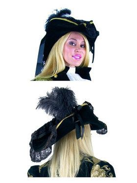 Lacey Pirate Costume Hat Accessory
