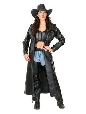 Ladies Leather Duster Adult Costume