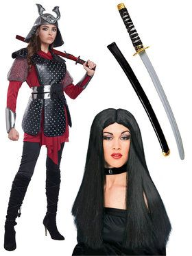 Ladies Ninja Warrior Costume Kit (L/XL)