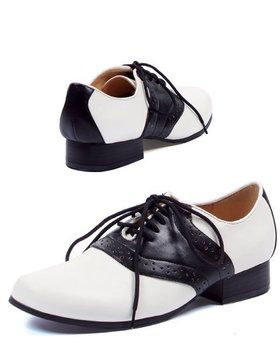 Ladies Saddle Black And White Shoe Adult