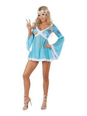 Sassy Flower Power Ladies Costume