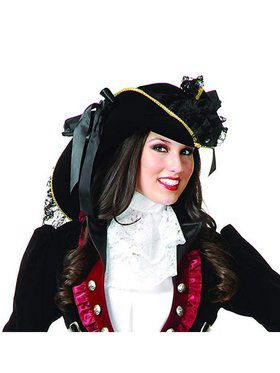 Ladies Velvet Pirate Hat