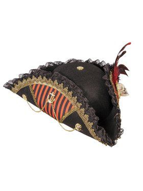 Lady Buccaneer Pirate Hat with Skull