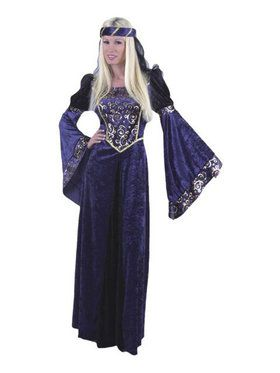 Lady Renaissance Navy Black Adult Costum