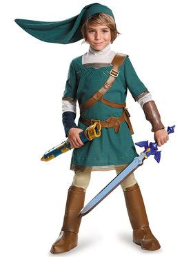 Legend Of Zelda Link Prestige Boys Costume