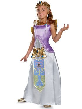 Legend Of Zelda: Zelda Deluxe Girls Costume