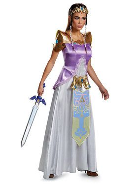 Legend of Zelda Princess Zelda Deluxe Ladies Costume