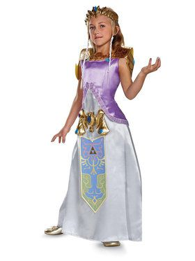 Legend of Zelda Princess Zelda Deluxe Girl's Costume