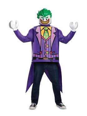 Adult Classic Joker Lego Batman Movie Costume