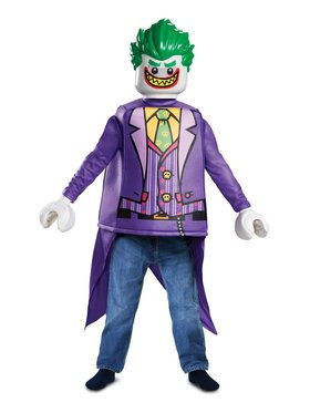 Child Classic Joker Lego Batman Movie Costume