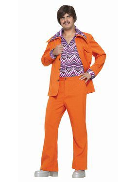Leisure Suit - Orange Adult Costume