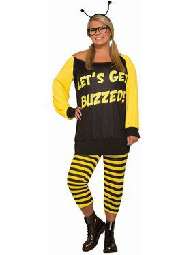 Let's Get Buzzed - Plus Adult Costume
