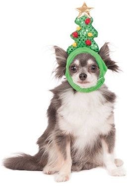 Light Up Christmas Tree Hat for Pets