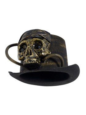 Light Up Skull Top Hat
